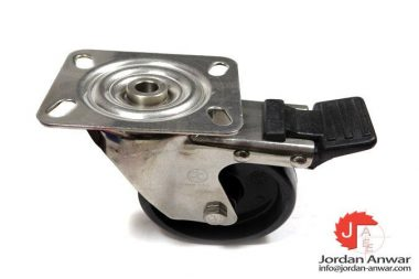 HIGH TEMPERATURE CASTER WHEELS 4-INCH SWIVEL WITH BRAKE 572°F