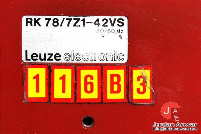 LEUZE RK 78/7Z1-42VS DIFFUSE-REFLECTION LIGHT SCANNER ENERGETIC - Jordan  Anwar Est.