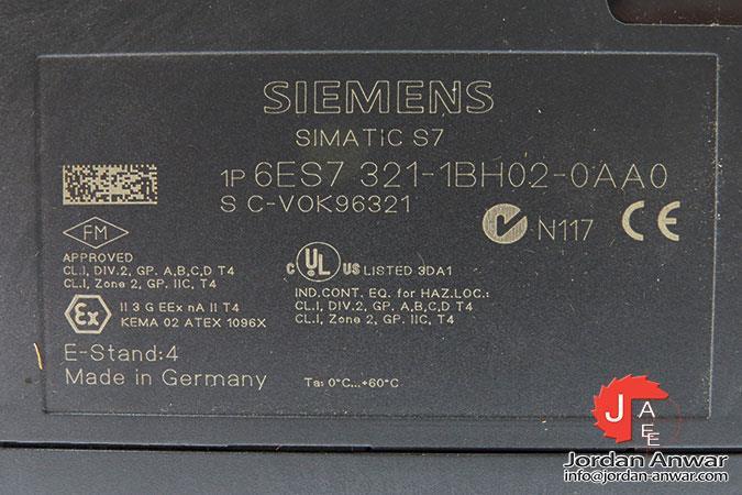 SIEMENS 6es7 321-1bh02-0aa0 E-Stand 4