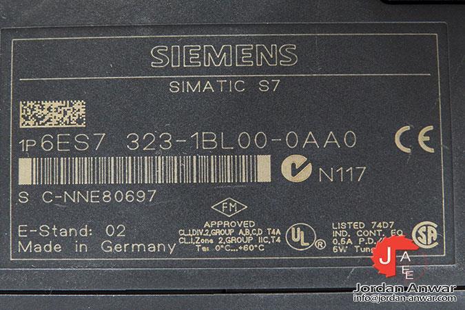 Siemens 6es7323-1bl00-0aa0 siamtic s7 6es7 323-1bl00-0aa0 E-Stand 2