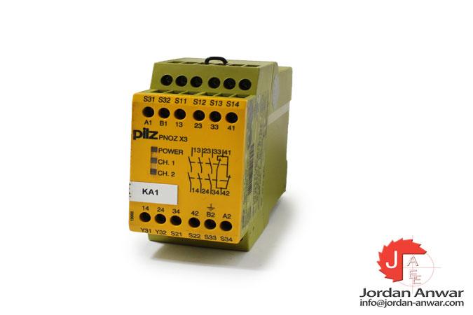 pilz-PNOZ-X3-110VAC-24VDC-3N_O-1N_C-1SO-safety-relay