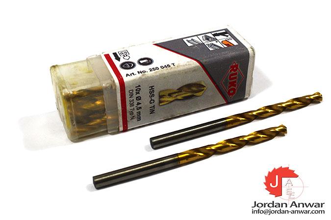 twist-drill-din-338-type-n-hss-g-tin-4.50-mm-x-80.00 mm