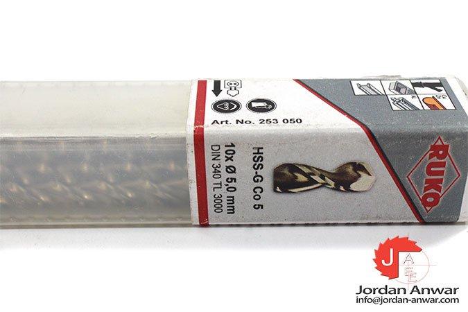 HSS-G Co 5 twist drill 1,0mm pack of 10